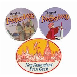 Set of (3) New Fantasyland Buttons.