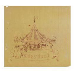 King Arthur Carrousel Concept Brownline.