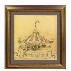 Original King Arthur Carrousel Drawing.