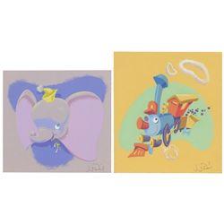 Pair of Original Jody Daily Fantasyland Paintings.