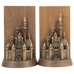Sleeping Beauty Castle Bookends.