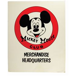 Mickey Mouse Club Merchandise Headquarters Sign.