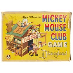 Mickey Mouse Club Board Game in Box.