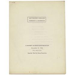 Matterhorn Bobsled Foreman Handbook.