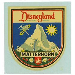 Disneyland Matterhorn Decal Sticker.