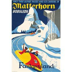 Matterhorn Bobsleds Attraction Poster.