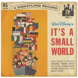 It's A Small World Souvenir Record.