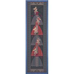 Frozen Rosemaling Tapestry Sign.