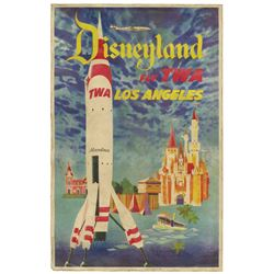 Original Small TWA Disneyland Travel Poster.