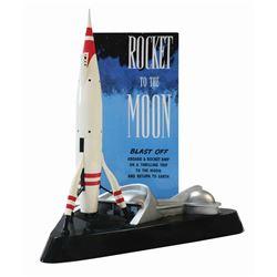 Rocket to the Moon Souvenir Lamp.