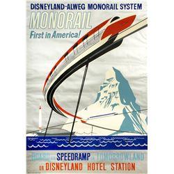 Disneyland-Alweg Monorail Attraction Poster.