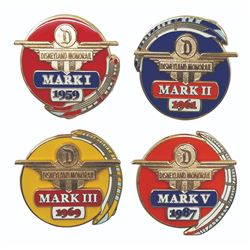 Set of (4) Monorail Commemorative Pins.