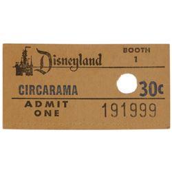 Circarama Admission Ticket.