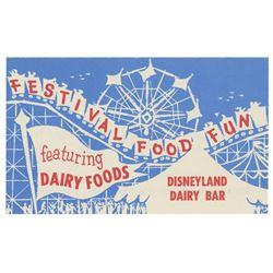 Tomorrowland Dairy Bar Recipe Flyer.