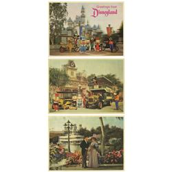Set of (3) Disneyland Lenticular Postcards.