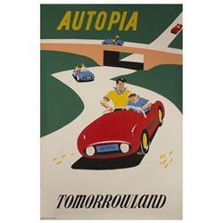 Autopia Attraction Poster.