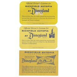 Set of (3) Early Autopia Licenses.