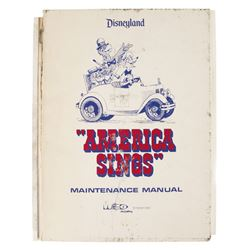 America Sings WED Maintenance Manual.