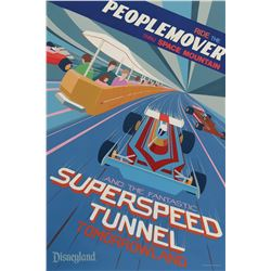 PeopleMover SuperSpeed Tunnel Attraction Poster.