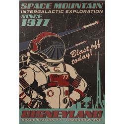 Space Mountain Attraction Anniversary Poster.
