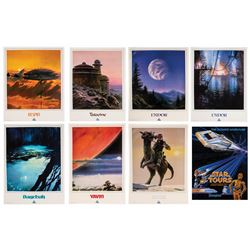 Set of (8) Unopened Star Tours Travel Posters.