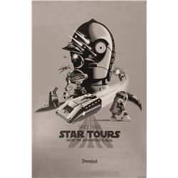 Star Tours Attraction Anniversary Poster.