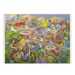 Mickey's Toontown Map Print.