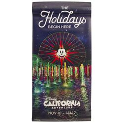 California Adventure Holiday Banner.