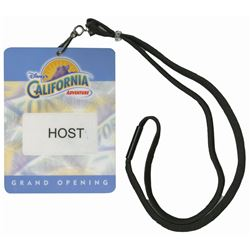 California Adventure Grand Opening Host Badge.