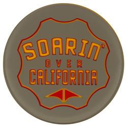 Soarin' Over California End Cap Sign.