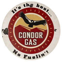 Condor Flats Metal Gas Sign Prop.