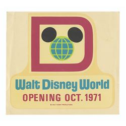Walt Disney World Pre-Opening Decal.