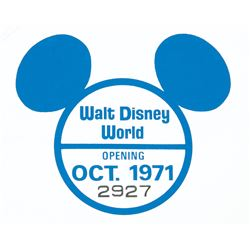 Walt Disney World Pre-Opening Sticker.