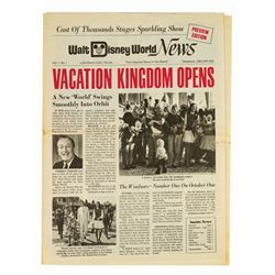 """Walt Disney World News,"" Vol 1, No 1."