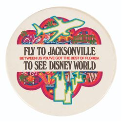 Walt Disney World Airline Promo Button.
