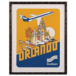 Southern Airlines Orlando Travel Poster.