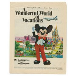 """A Wonderful World of Vacations"" Newspaper Supplement."