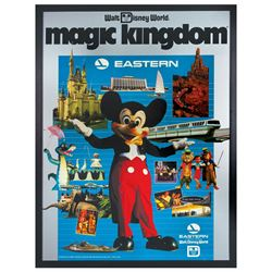 Magic Kingdom Eastern Airlines Travel Poster.