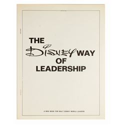 """The Disney Way of Leadership"" Cast Member Booklet."