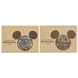 Pair of Walt Disney World Cast Member Booklets.
