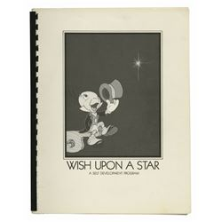 """Wish Upon a Star"" Cast Member Booklet."