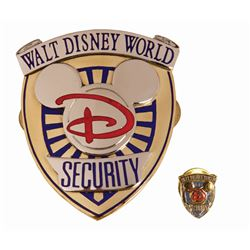 Walt Disney World Security Officer Badge & Pin.