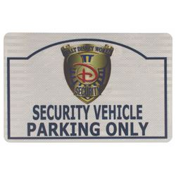 Walt Disney World Security Vehicle Parking Only Sign.