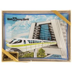 Contemporary Resort & Monorail Glass Ashtray.