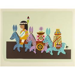 Mary Blair Contemporary Resort Silkscreened Test Print.