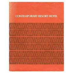 Contemporary Resort Hotel Guest Folder.