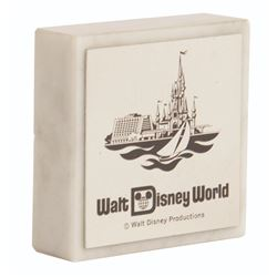 Walt Disney World Souvenir Marble Paperweight.