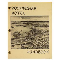 Polynesian Hotel New Hire Handbook.