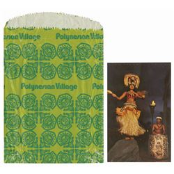 Polynesian Village Postcard and Gift Bag.