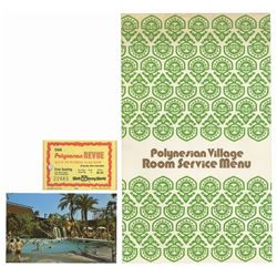 Set of (3) Polynesian Village Paper Goods.